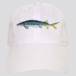 White Sturgeon fish Baseball Cap