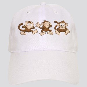 No Evil Monkey Baseball Cap