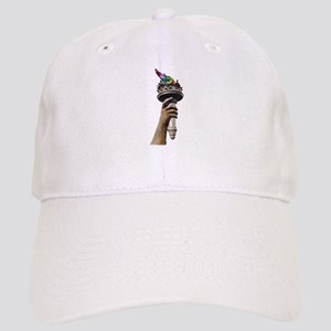 hand_and_torch Baseball Cap