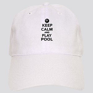 Keep calm and play pool billiards Cap