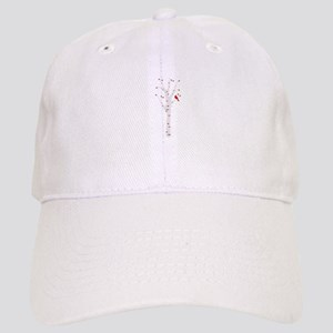 Winter Birch Tree Cardinal Bird Baseball Cap