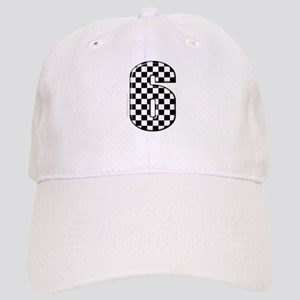 checkered number #6 Cap