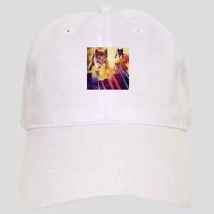 Laser Eyes Space Cats Flying T-Shirt Cap