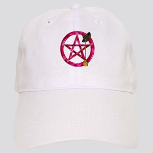 Pink Pentacle Broom - Hat Baseball Cap