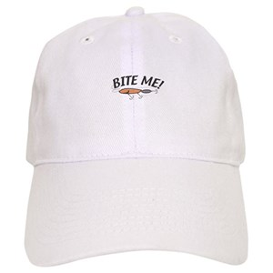 e616b971d7761 Bite Me Fishing Hats - CafePress