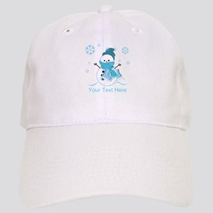 Cute Personalized Snowman Cap