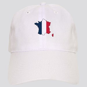Flag Map of France Cap