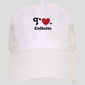 Personalized Couples Heart Cap