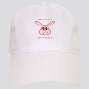 PERSONALIZE Pink Bunny Cap