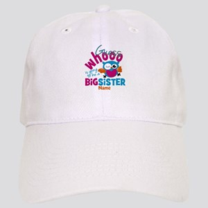 Personalized Big Sister - Owl Baseball Cap