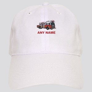 a9d6a33ecc7c9 FIRETRUCK with Any Name or Text Baseball Cap
