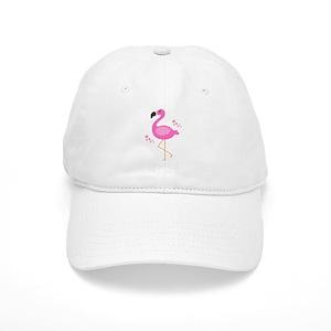 9111b7e0b17 Pink Flamingo Hearts Baseball Cap