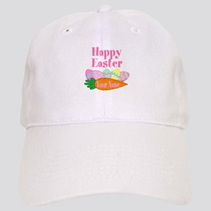 Happy Easter Carrot and Eggs Baseball Cap