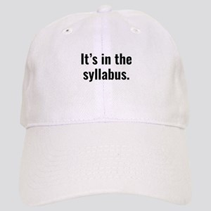 It's In The Syllabus Cap