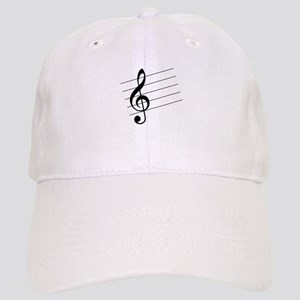 Music Staff Sheet Notes Symbols Treble White Baseball Hats