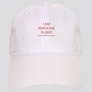 i-am-awesome-in-bed-OPT-RED Baseball Cap