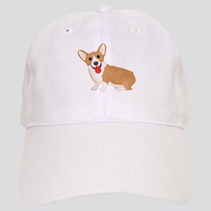 Pembroke welsh corgi dog showing tongue Cap
