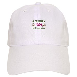 154528486 COUNTRY GIRL WILL SURVIVE Baseball Cap
