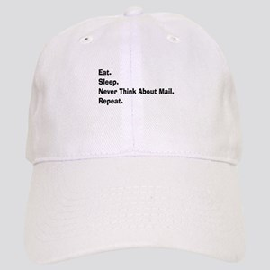 Retired USPS eat sleep never think mail Cap