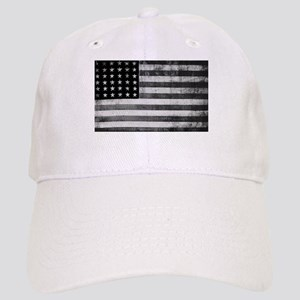 American Vintage Flag Black and White horizont Cap