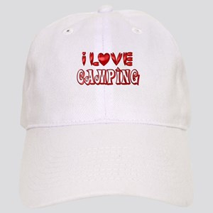 fc7b18b3bb9b6 I Love Camping Hats - CafePress