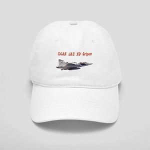 87c05a76509a9 Saab JAS 39 Gripen w text Baseball Cap