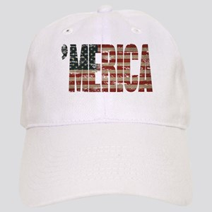 Vintage Distressed MERICA Flag Baseball Cap