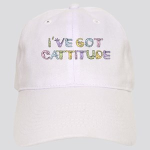 Cattitude Funny Cat Saying Cap