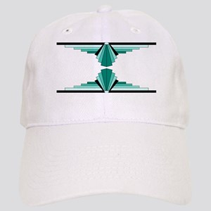 Art deco patterns in aqua Cap