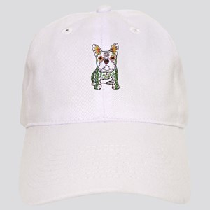 Sugar Skull Frenchie Baseball Cap