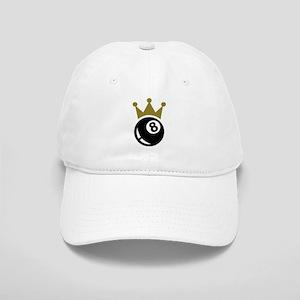 Eight ball billiards crown Cap