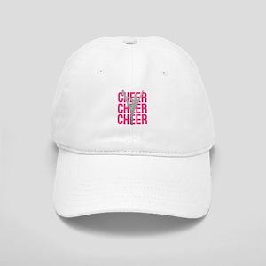 Pink Cheer Glitter Silhouette Cap