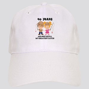 40th Anniversary Mens Fishing Cap