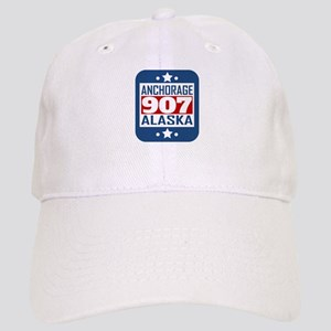 907 Anchorage AK Area Code Baseball Cap