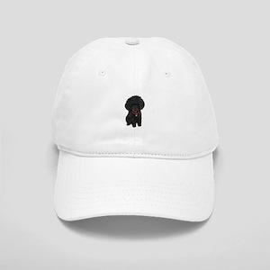 Poodle pup (blk) Cap