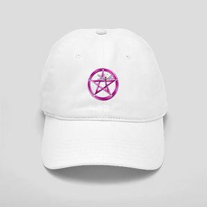 Pink Pentacle Dragonfly Baseball Cap