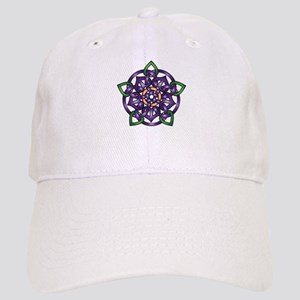 Purple Celtic Rose Cap