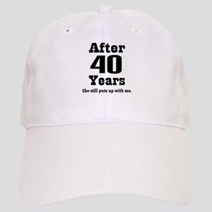 40th Anniversary Funny Quote Cap