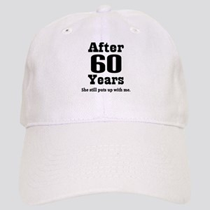 60th Anniversary Funny Quote Cap
