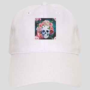 Flowers and Skull Cap