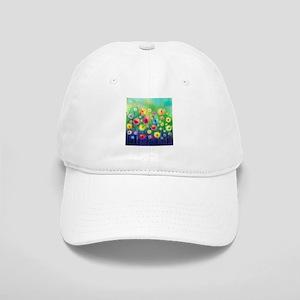Watercolor Flowers Cap