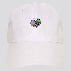 Customizable Music Heart Treble Clef Cap