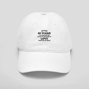 60 Years Of Love And Wine Baseball Cap