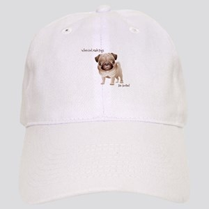 When God Made Pugs Baseball Cap