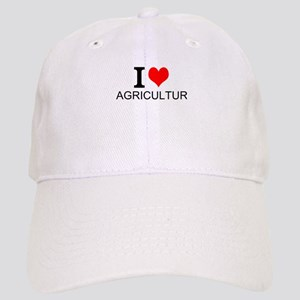 I Love Agriculture Baseball Cap