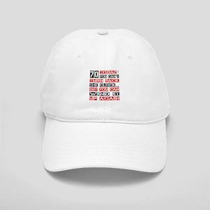 70 Turn Back Birthday Designs Cap