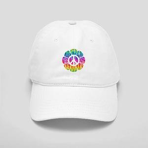 Colorful Peace Flower Cap