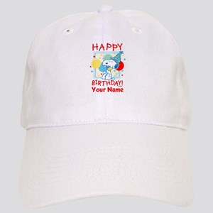 Peanuts Happy Birthday Red Personalized Cap