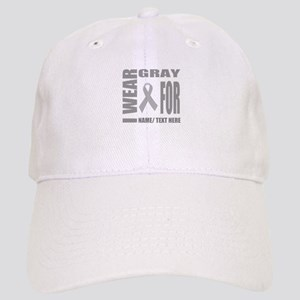 Gray Awareness Ribbon Customized Cap