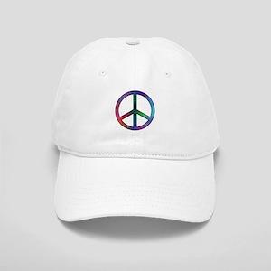 Multicolor Peace Sign Cap